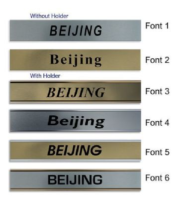 Beijing Clock Name Plate |World Time Zone City Wall clocks Sign custom Plaque